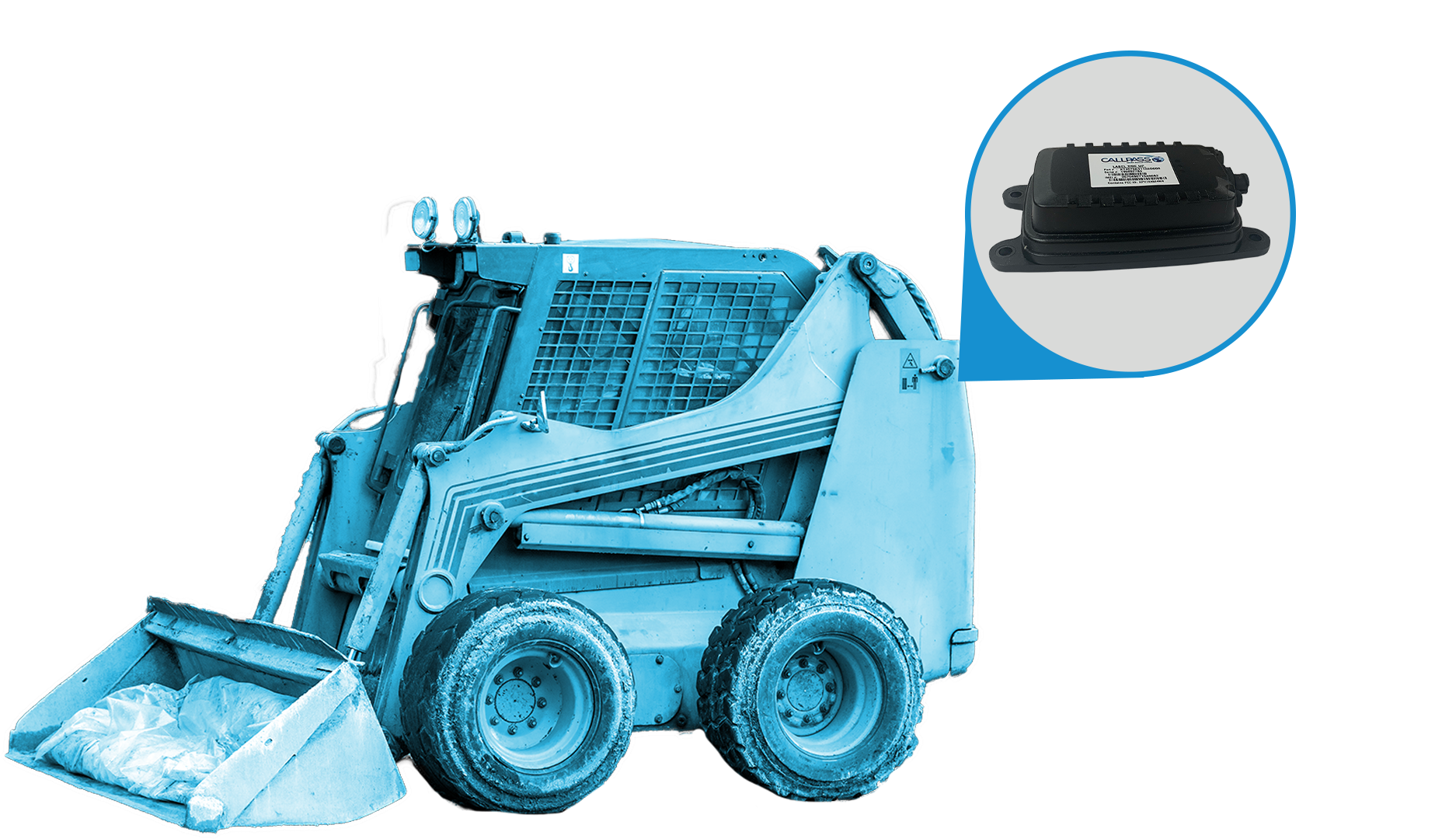 Skid Loader With CP45 Device